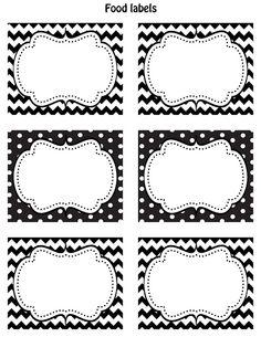 Cupcake Express: Happy Friday!! FREE Printable food labels!