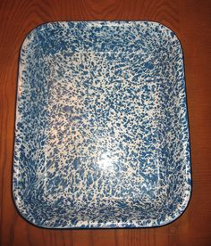 vintage 1940s Blue and White Splatterware by EclecticAtticVintage, $38.00