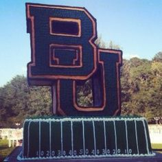 This is some Baylor groom's cake!