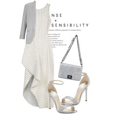 A fashion look from May 2016 featuring 3.1 Phillip Lim dresses, Miss Selfridge jackets and René Caovilla sandals. Browse and shop related looks.