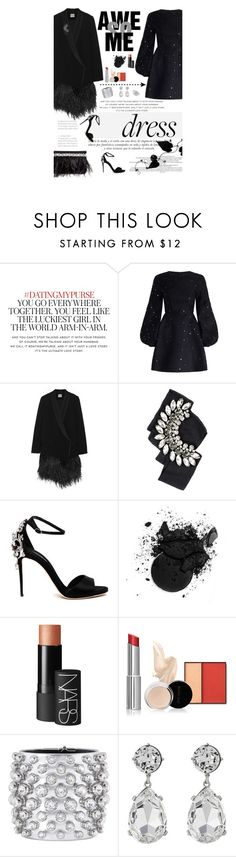 """Party On: Long Sleeve Dresses"" by amimcqueen ❤ liked on Polyvore featuring Kate Spade, Sinclair, Zimmermann, Haute Hippie, Dolce&Gabbana, NARS Cosmetics, Tom Ford, Kenneth Jay Lane and Bliss Diamond"
