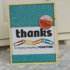 LOVE this card; clever use of color