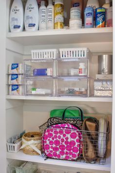 Organized Bathroom Supply Cabinet