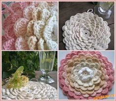 Dečka IF I can find it in English ? Love Crochet, Crochet Flowers, Knit Crochet, Crochet Things, Crochet Ideas, Homemade Potholders, Craft Projects, Craft Ideas, Crafty
