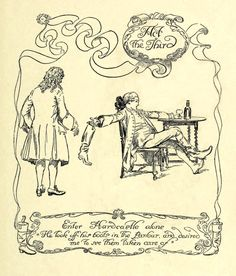 Act 3 Title. —  Hugh Thomson Illustrations: She Stoops to Conquer by Oliver Goldsmith