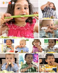 "Let's face it, kids like to copy others. So grab a few fresh fruits and veggies and watch the video ""Copy-Kids Eat Fruits and Vegetables."" This video shows the joy of eating fruits and vegetables from the perspective of kids 9 months through 4 years of age."
