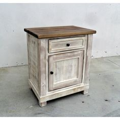 End Table Bedside Table Reclaimed Wood Rustic Vintage Bed Dresser... ($295) ❤ liked on Polyvore featuring home, furniture, storage & shelves, nightstands, bedroom furniture, grey, home & living, handcrafted furniture, gray furniture and reclaimed wood nightstand