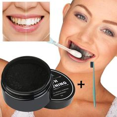 Buy Yellow Teeth Nemesis Teeth Whitening Powder Natural Organic Activated Charcoal Bamboo Toothpaste With Toothbrush-Whitening toothpaste-Blanchissant la poudre dentaire-Dentifrice blanchissant at Wish - Shopping Made Fun Teeth Whitening Methods, Natural Teeth Whitening, Whitening Kit, Skin Whitening, Coconut Activated Charcoal, Activated Charcoal Teeth Whitening, Tooth Powder, Teeth Health, Oral Health