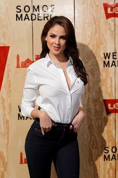Eiza Gonzalez – Levi's Store Opening in Mexico City Sexy Outfits, White Shirt Outfits, Beauty Full Girl, Beauty Women, Beautiful Celebrities, Gorgeous Women, Mexican Actress, Sexy Hot Girls, Mannequin