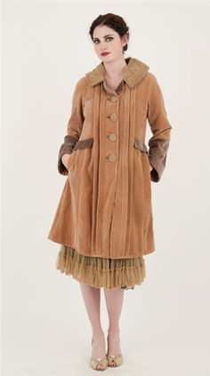 Butterscotch Velvet Coat <3   Victorian Trading Company
