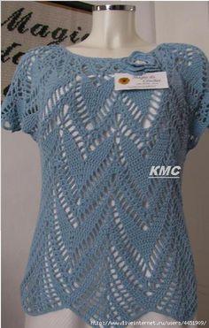 Magia do Crochet: Agosto 2012 Pull Crochet, Mode Crochet, Crochet Blouse, Crochet Lace, Crochet Tops, Crochet Bodycon Dresses, Black Crochet Dress, Crochet Designs, Crochet Patterns