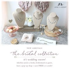 Chloe + Isabel's just-launched Bridal Collection offers 'something new' for every type of style story, from dreamy mixed-media silhouettes to Deco-inspired designs. Shop new sparkle at annmiller.chloeandisabel.com! #chloeandisabel