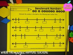 Why We Must Teach Benchmark Numbers - Where the Magic Happens Number Line Activities, 1st Grade Activities, Fun Activities, Creative Teaching, Teaching Math, Open Number Line, Daily 3 Math, Subtraction Strategies, Second Grade Math