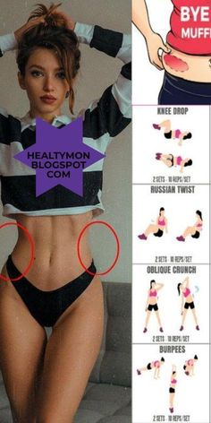 How to lose a Top & Belly Fat Fast Muffin with this 6 exercise - . Come perdere un Muffin Top & Belly Fat Fast con questo 6 esercizio fisico – How to lose a Top & Belly Fat Fast Muffin with this 6 exercise – Fitness Workouts, Summer Body Workouts, Gym Workout Tips, Fitness Workout For Women, Butt Workout, Workout Challenge, Workout Videos, Body Fitness, Fitness Motivation