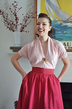 two-seam top http://shop.bramcostpublications.com/Vintage-1950s-Magic-Blouse-Pattern-1106-SW-MAGICBLOUSE.htm
