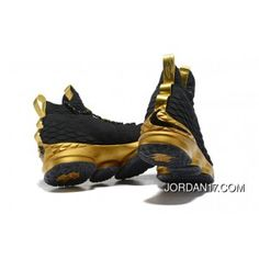 quality design 6fa74 37447 LeBron James Nike LeBron 15 Mens Basketball Shoes Black Gold NBA Finals  Game 4 Copuon