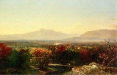 John Frederick Kensett (American 1816–1872) [Luminism, Hudson River School, Marine, Landscape] October Day in the White Mountains, 1854. Cleveland Museum of Art. The Athenaeum