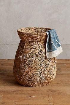 Abaca Spiral Basket - anthropologie.com