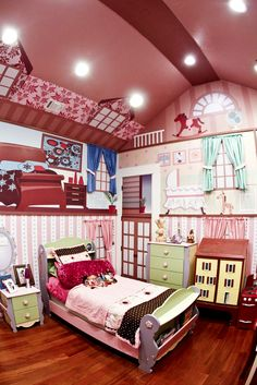Little girl's Dream! A Paige Hemis Doll House Bedroom patterned after her own doll house by AAA Homes of MS, LLC for Extreme Makeover: Home Edition