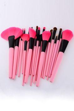 ROMWE | 24pcs Makeup Brush Set-pink, The Latest Street Fashion http://www.romwe.com/24pcs-makeup-brush-setpink-p-63416.html?Pinterest=fyerflys