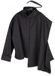 Chalk Stripes Turtleneck  Ines Marques, fashion design, independent brand, scar-id store