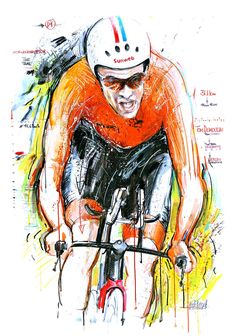 Tom Dumoulin wins TT World Championships Bergen 2017 by Horst Brozy Cycle Painting, Cycling Art, Bike Art, World Championship, Illustration Art, Poster, Tours, Spin, Birth
