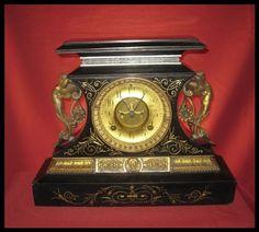 Antique Victorian Ansonia mantle Clock 1882 by NostalgiaStudios39, $525.00
