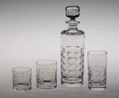 """Oslo"" barserie - Willy Johansson for Hadeland Glassverk Oclock, Vodka Bottle, Modern Design, Norway, Retro, Vases, Inspiration, Beautiful, Products"