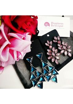 Vintage-Inspired Chandelier Earrings in Pink - Happiness Boutique