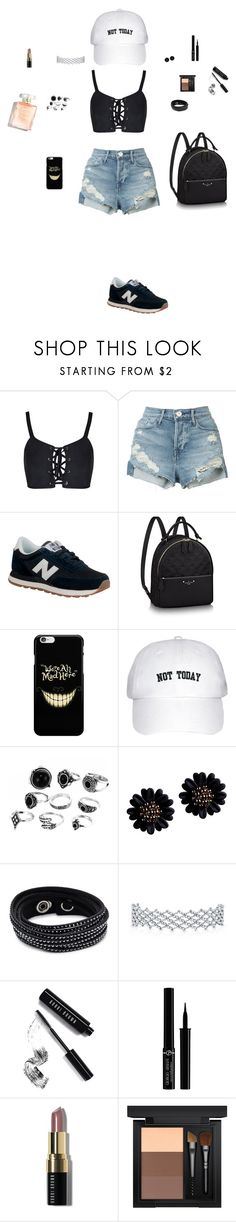 """Untitled #93"" by mayashmila ❤ liked on Polyvore featuring 3x1, New Balance, Swarovski, Bobbi Brown Cosmetics, Giorgio Armani and MAC Cosmetics"