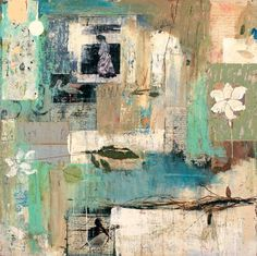 Marti Somers Rain on Sand and Sea Mixed media on board 44x44 in