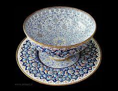 Hand made enamel work on copper , iran.