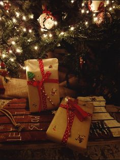 The first presents are under our Christmas tree!!