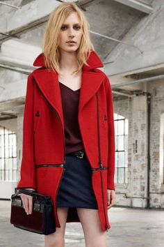 Rag & Bone Resort 2014 ZIP DETAILING- Long coat to short