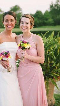 Ballet Collar Bridesmaid Dresses