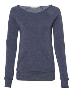 Alternative Eco True Navy Ladies Maniac Eco Fleece Sweatshirt - 9582