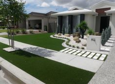 Examples Of Synthetic Turf Used Effectively To Complement A Home