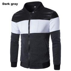 Hot Sale Casual Slim Fit Stylish Patchwork Men's Fleece jacket Long Sleeve Zipper Design Men's Blazer Jacket Suits