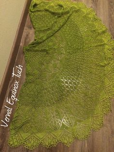 Vernal Equinox Tuch aus Merino