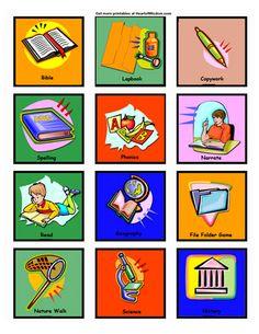 Free Printable Homeschool workbox  Labels