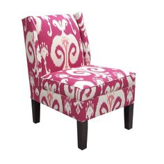 Skyline Furniture Upholstered Ikat Armless Wingback Chair