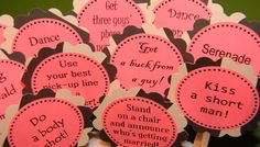 Bachelorette Party Game Cakes - Zebra Print Decorations - Couture Cupcake Toppers-  set of 12 w/ bonus - customizable for Birthdays. $7.50, via Etsy.