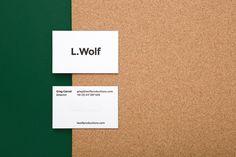 l. wolf — mildred & duck #graphicdesign #businesscard #mildredandduck