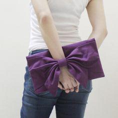 Sale Promo - Purple Canvas Women Clutch Bag, Wristlet, Mini iPad Sleeve, Mini iPad Case, Handbag - BOW on Etsy, $37.16 CAD