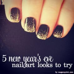 5 new year's eve nail art looks to try