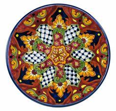 Talavera Pottery Dinner Plate - TP2008-6R