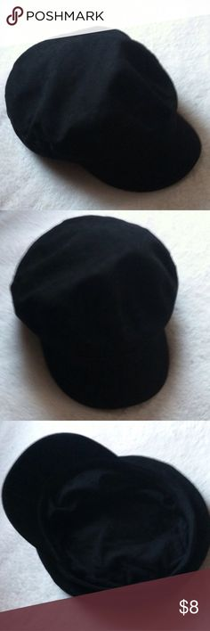 NWOT Forever 21 Cabbie Newsboy Cap Hat OS • new without tag • soft material • color: black • one size • brand: forever 21 • no trades • Forever 21 Accessories Hats