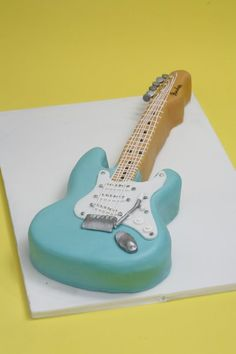 Fender guitar cake by Designacake Love this cake. Could you make an accoustic guitar?:)