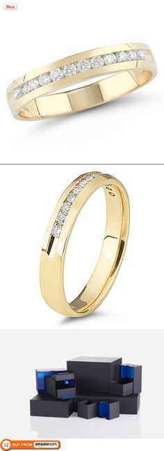 14k Yellow Gold Round Diamond Anniversary Band (1/4 cttw, H-I Color, I1-I2 Clarity), Size 8, Give her a gift of the 14k Gold Round Diamond Anniversary Band to make her feel as admired as a queen. This ring is a mix of traditional and modern, cast in 14k gold for an heirloom-quality finish tha..., #Jewelry, #Anniversary Rings, $530.00