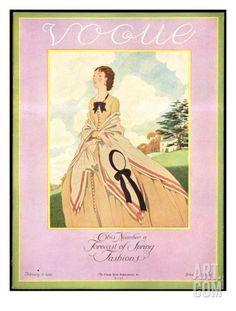 Vogue 1926 | Vogue Cover - February 1926 Regular Giclee Print